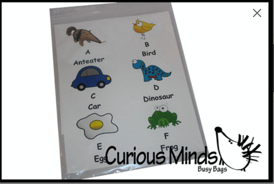 CLEARANCE - SALE - Alphabet Flash Cards - Printed, You Laminate and Cut