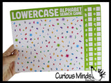 Learning Seek and Find Dry Erase & Wipe Off -  Activity Pages - Set of 6 - Uppercase/Lowercase/Numbers 1-20/Colors/Shapes
