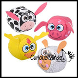 Cute Farm Animal Kick Balls - Sack Footbag Game Balls