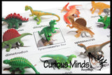 Montessori Animal Match - Miniature Animals with Matching Cards - 2 Part Cards.  Montessori learning toy, language materials - Dinosaurs