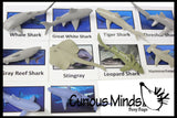 Montessori Shark Animal Match - Miniature Animals with Matching Cards - 2 Part Cards.  Montessori learning toy, language materials
