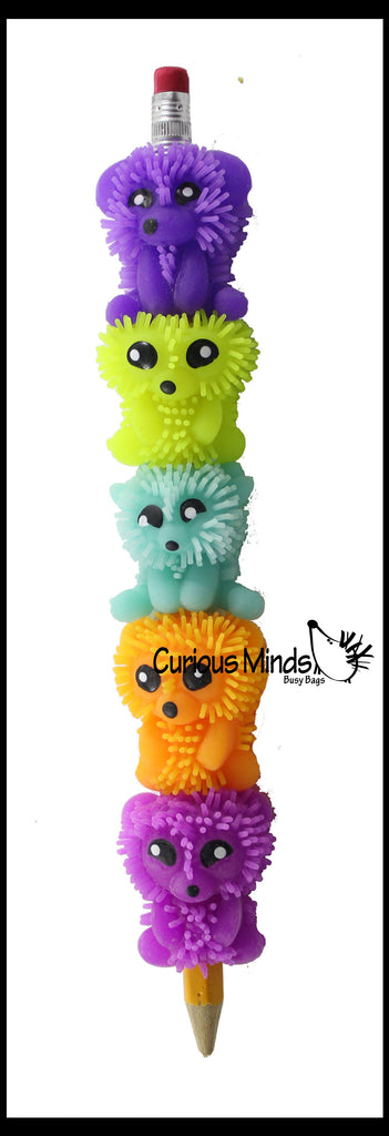 Animal Soft Puffer Pencil Grip - Sensory School Supply or Prize