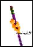 Animal Pencil Buddies - Fidget Toys - Pencil Wrap Topper - Novelty Party Favor - Classroom Supply