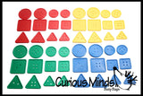 Large Attribute Lacing Buttons Busy Bag - Perfect fine motor learning activity for toddlers and preschoolers.  Sort by shape and color.  Travel activity