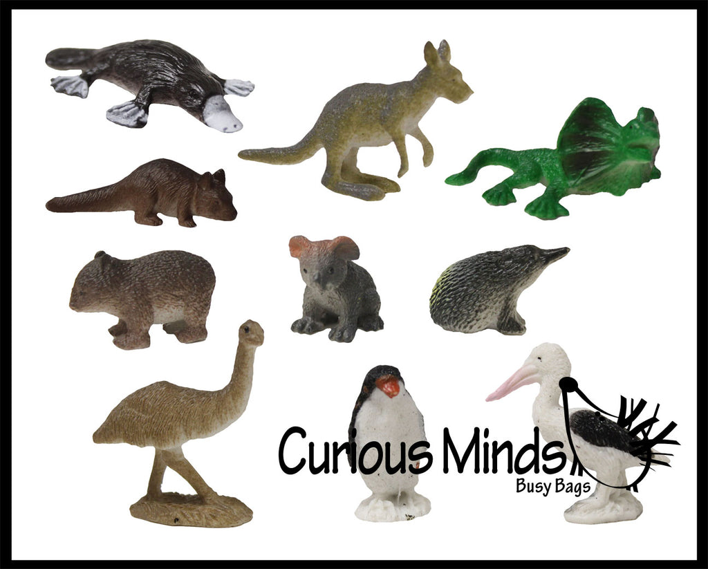 Miniature Australian Animal Figurines Replicas