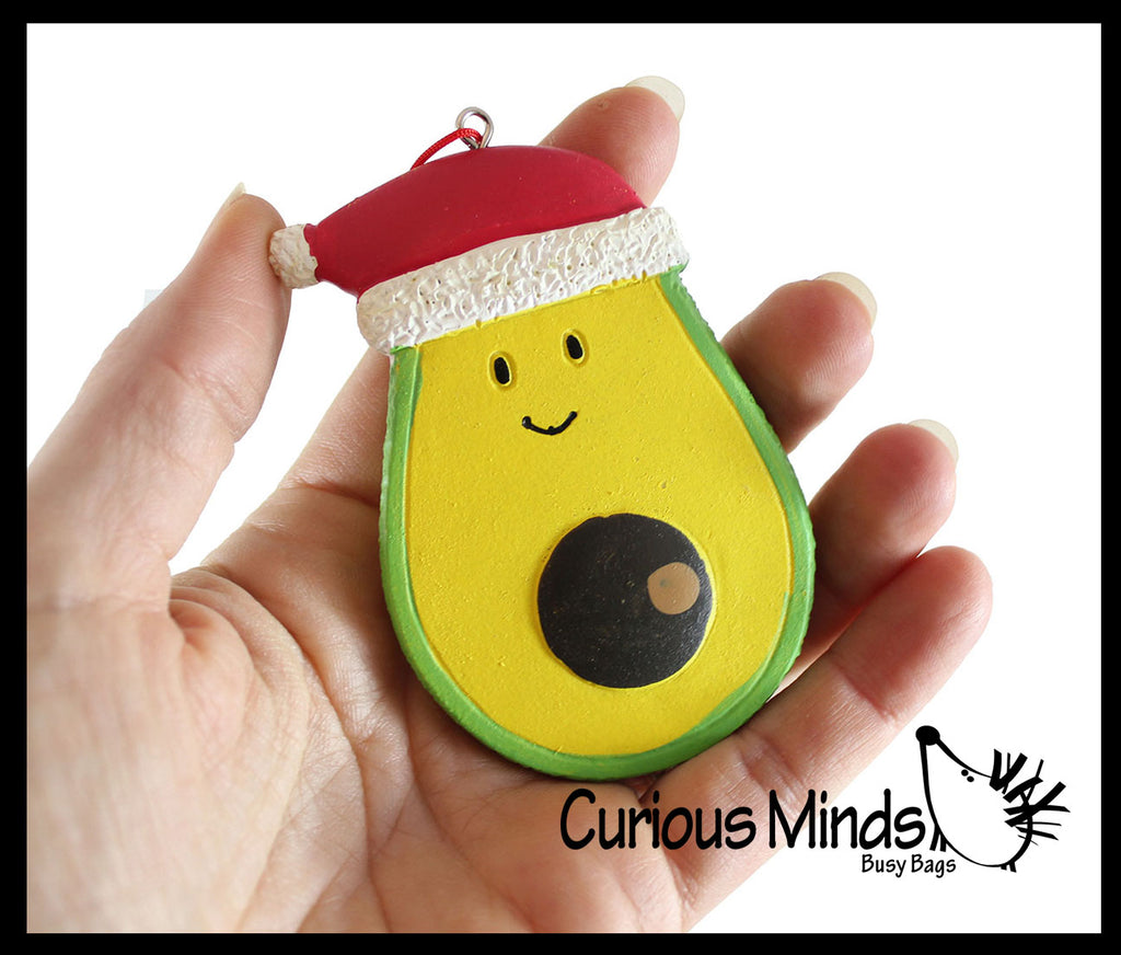 Cute Avocado Christmas Ornaments for Tree -  Christmas Holiday Decorations