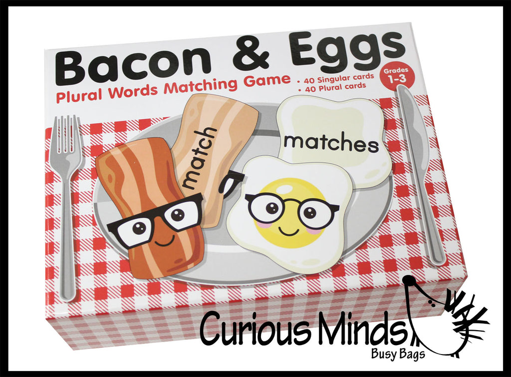 Bacon and Egg Plural Words Puzzle - Teacher Supply