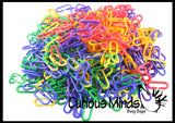 500 Colorful Counting Links - Math Manipulative - Open Ended Building Linking Toy