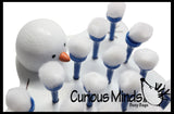 Balancing Snowballs -  fine motor busy bag - Snowman - Winter Busy Bag - Christmas Stocking Stuffer Game