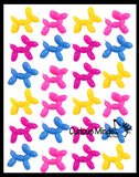 Mini Balloon Dog Stretchy Toy - Cute Squishy Sensory Fidget Toy - Party Favors & Prizes
