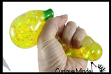 Banana Water and Sparkle Filled Squeeze Stress Ball  -  Sensory, Stress, Fidget Toy