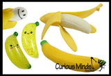 Set of 5 Fun Banana Toys - Moldable Sensory, Stress, Squeeze Fidget Toy ADHD Special Needs Soothing OT Water Beads