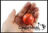 Basketball Bouncy Super Balls - Sports Team Athletic Youth Players - Cute Party Favors or Classroom Rewards