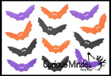 144 Halloween Cute Bat Mini Erasers - Trick or Treat - Math Manipulatives - Party Favor