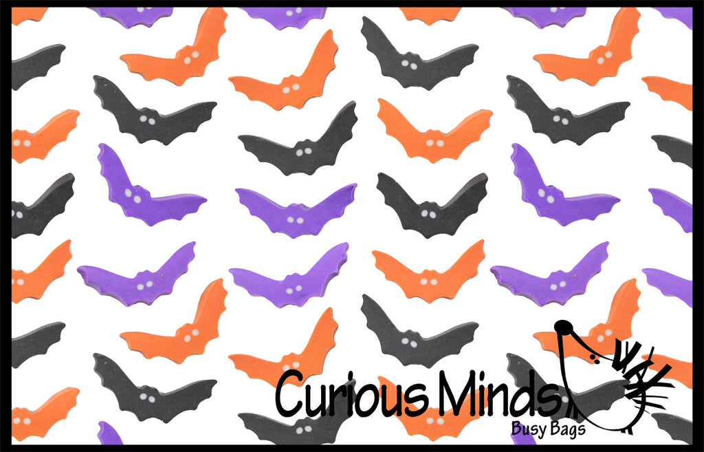 CLEARANCE - SALE - 144 Halloween Cute Bat Mini Erasers - Trick or Treat - Math Manipulatives - Party Favor