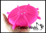 Water Soaker Flying Disk Pool or Bath Toy - Also Makes a Fun Squishy Fidget Ball - Water Bomb