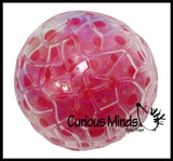 Water Bead Filled Squeeze Stress Ball  -  Sensory, Stress, Fidget Toy
