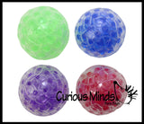 Sticky Ceiling Target Balls - Throw Globs to Stick to Ceiling and Catch When it Falls -  Water Bead Filled Squeeze Stress Ball  -  Sensory, Stress, Fidget Toy