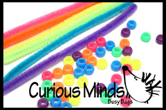 Busy Bag (learning activity) Pipe cleaner beading