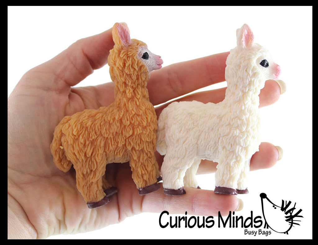 Llama Alpaca Stretchy and Squeezy Toy - Crunchy Bead Filled - Fidget Stress Ball
