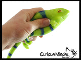Chameleon Stretchy and Squeezy Toy - Crunchy Bead Filled - Fidget Stress Ball - Amphibian