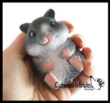 Hamster Stretchy and Squeezy Toy - Crunchy Bead Filled - Fidget Stress Ball Cute Hampster