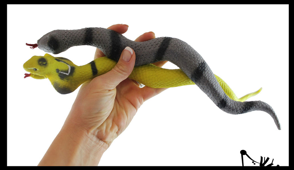 Snake Stretchy and Squeezy Toy - Crunchy Bead Filled - Reptile Fidget Stress Ball