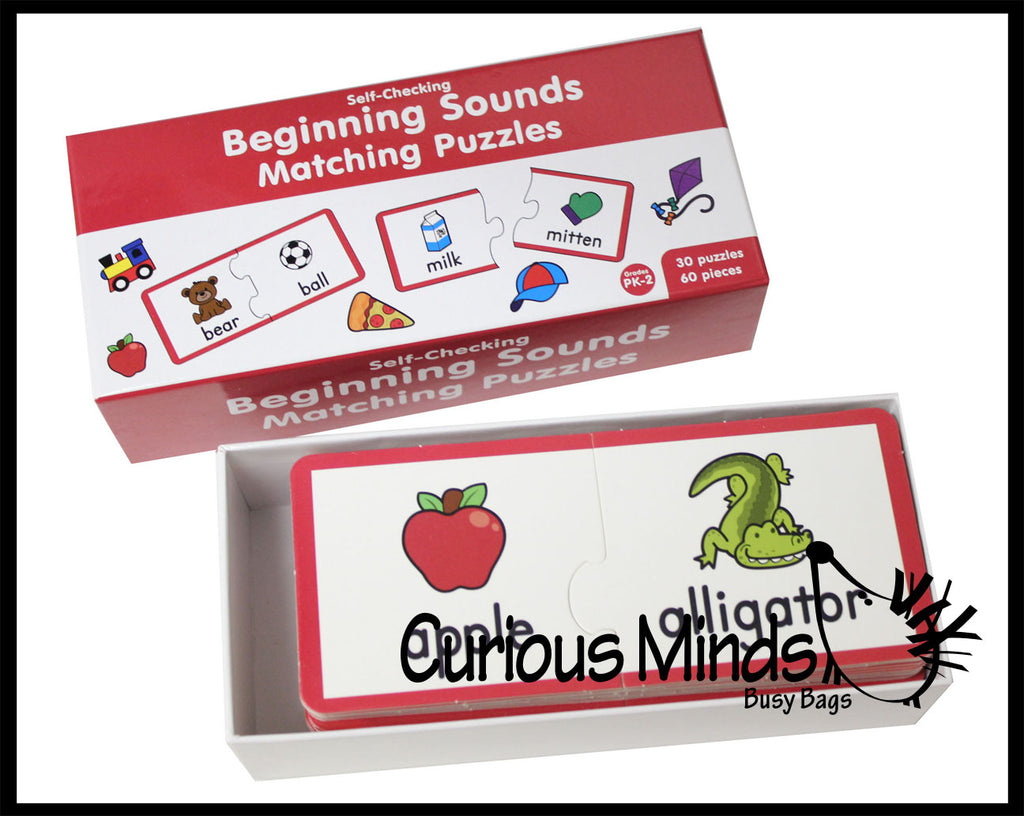 CLEARANCE / SALE - Beginning Sounds Matching Puzzle - Language Arts Teacher Supply