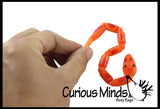 Mini Magic Jointed Moving Snakes - Classic Trick Toy - Plastic Segmented Snake Fidget Party Favor - Halloween