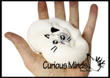 Large Squishy Slow Rise Animal Face-  Sensory, Stress, Fidget Toy
