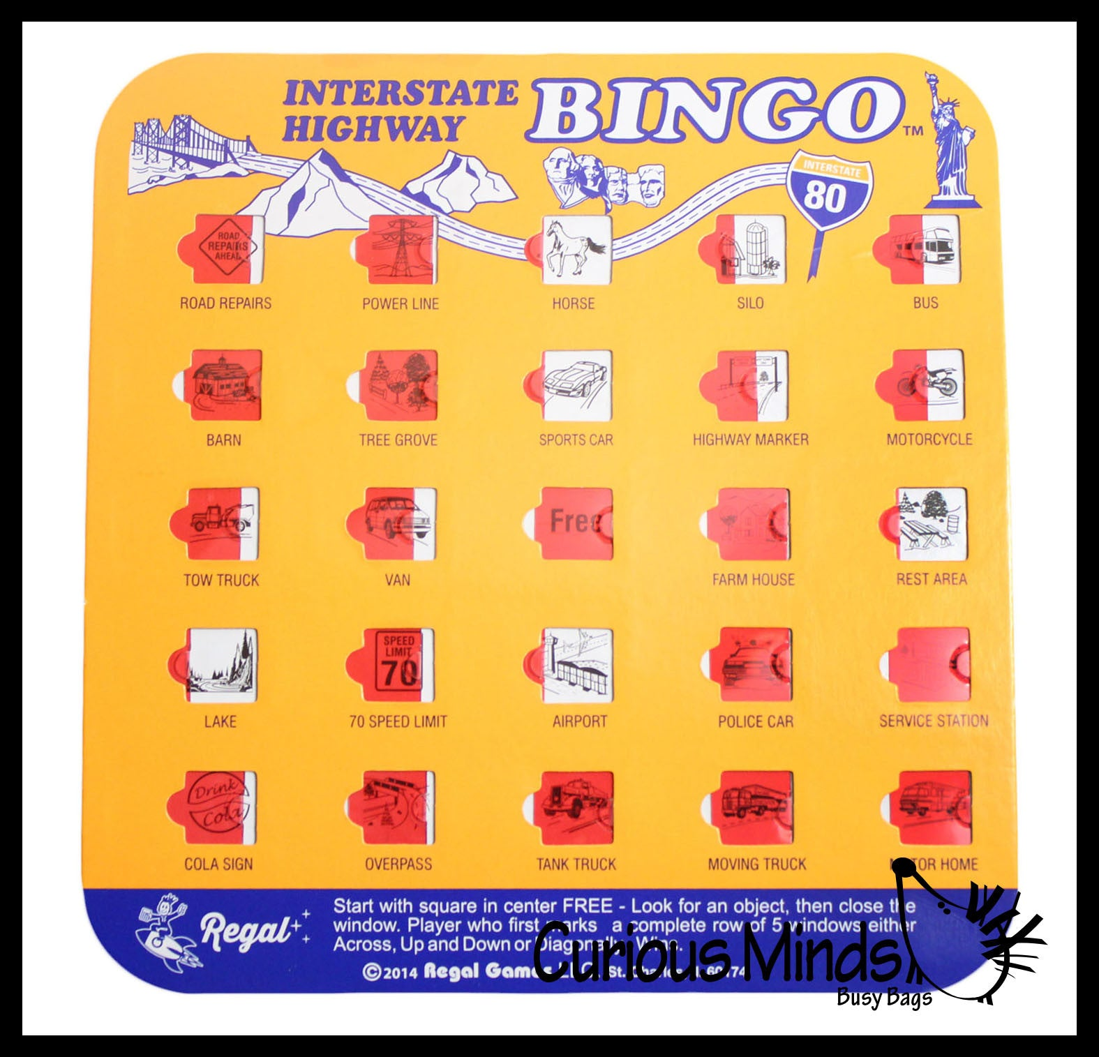 Travel BINGO Toy Activity Bundle for Kids - Busy Bag Games