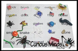 Montessori Alphabet Objects - BLENDS Word Mini Objects with Word Cards