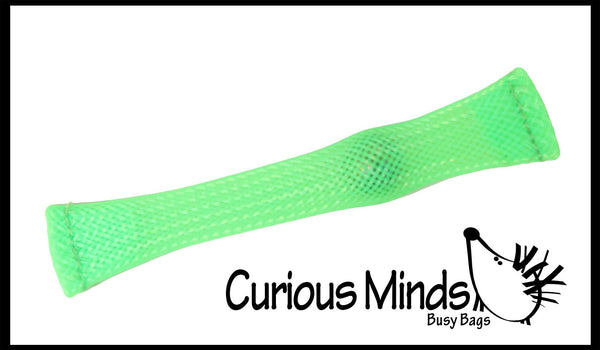 Mesh Tube And Marble Fidget Toy Curious Minds Busy Bags
