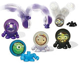 CLEARANCE - SALE - 2 Bouncy Ball Guys - Astronaut and Alien - Display Bouncy Balls -  Bouncy Super Balls  - Cute Party Favors or Classroom Rewards