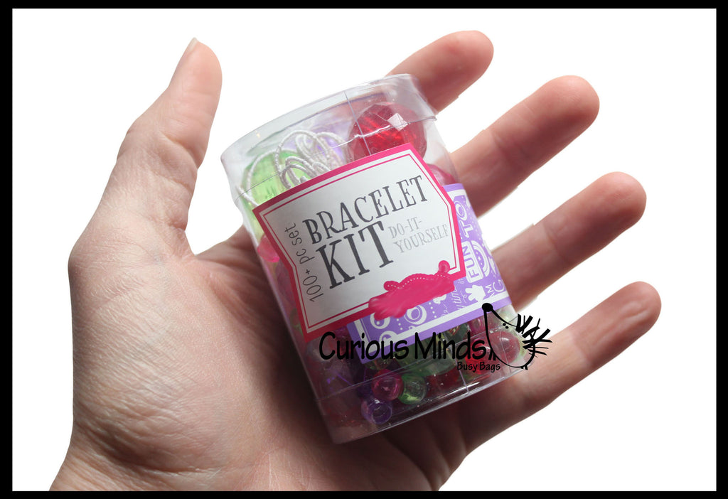 Bracelet Kit - Perfect fine motor learning activity for toddlers and preschoolers.  Sort by shape and color.  Travel activity