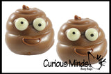 Brown Poop Squishy Squeeze Stress Ball - Sensory, Fidget Toy