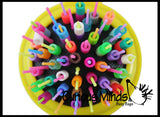 Beads on Brush Pegs - Compact Fine Motor Learning Toy