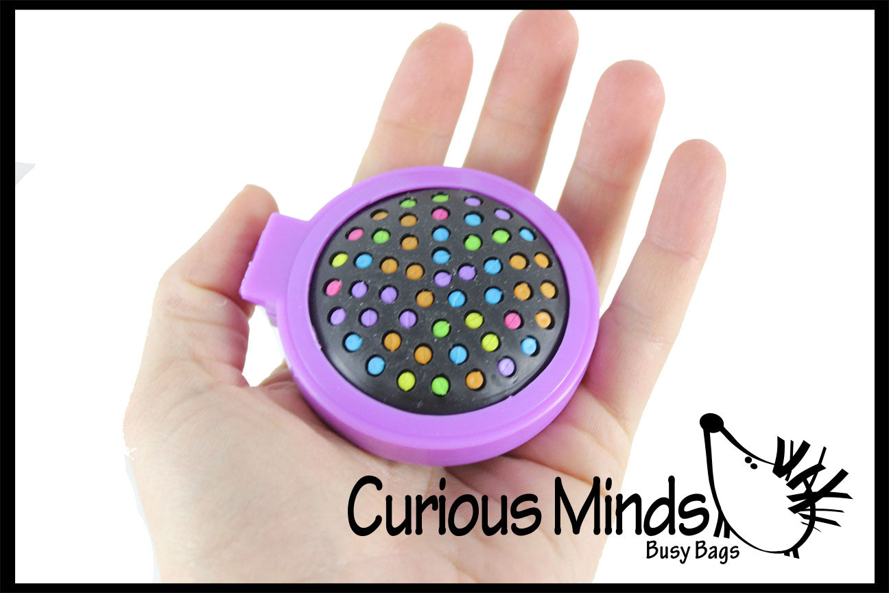 Compact Folding Hair Brush with Mirror