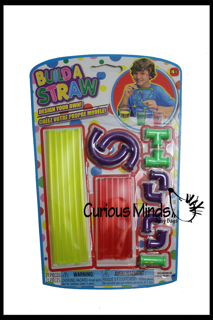 Build a Straw - Fine Motor Building Toy