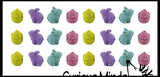 24 Cute Chick and Bunny Erasers - Easter Egg Filler Prize  (2 DOZEN)