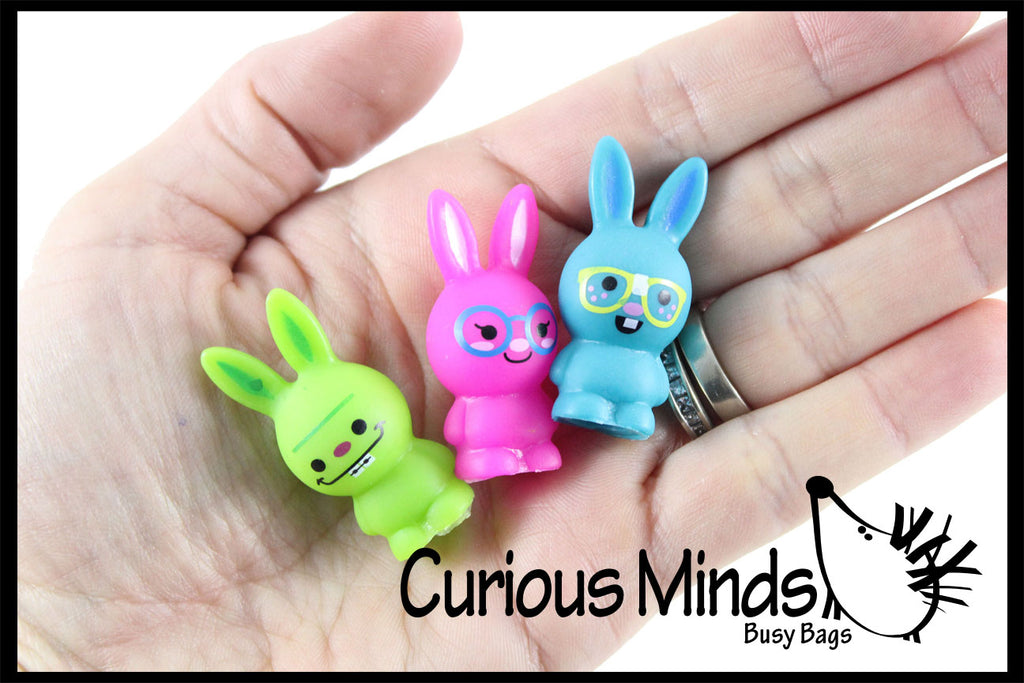 CLEARANCE SALE - Cute Bunny Pencil Toppers - Easter Egg Filler Prize - School Supplies