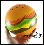 "CLEARANCE - SALE - Hamburger Lightweight Inflatable Ball  - 6"" Sports Ball - Indoor Safe Athletic Play Gross Motor Toy"