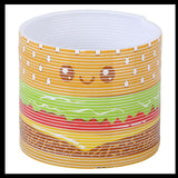 Burger Magic Spring Coil Toy -  Sensory Fidget Toy - Relaxing & Mesmerizing - Stair Walking Fun Classic Toy
