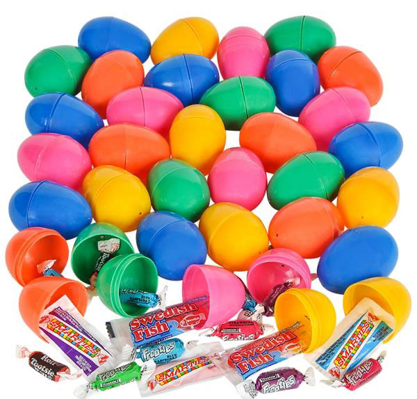 24 Piece Candy Filled Easter eggs - Pre-Filled Easter Egg Set - Hunt (2 DOZEN)