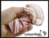 Candy Cane Mini Magic Spring Toy - Fun Silly Coil Party Favor Toy - Christmas Winter
