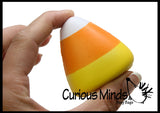 Candy Corn Halloween Party Favor Stress Balls, Small Novelty Toy Prize Assortment Gifts
