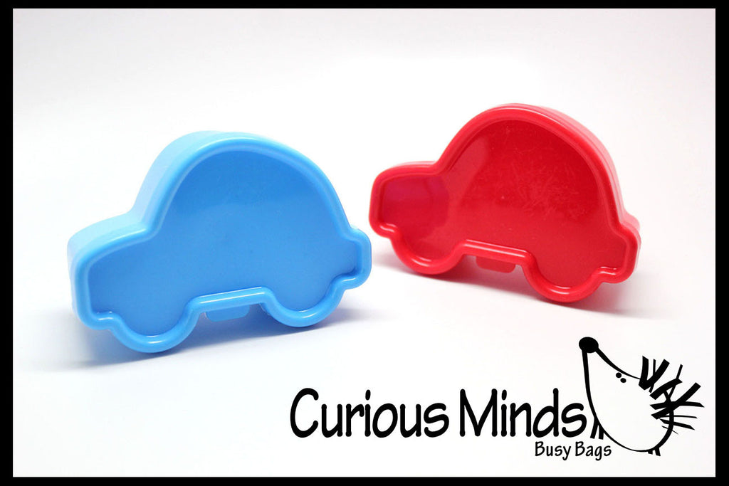 SALE - Car Shaped Bento Boxes - Snack Cups for Toddlers and Preschoolers Lunch