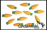 Mini Carrot Erasers - Novelty Easter Gift - Party Favor - Easter Egg Filler for Hunt