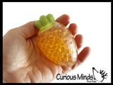 Banana and Carrot Water Bead Filled Squeeze Stress Balls  -  Sensory, Stress, Fidget Toy - Vegetable Fruit Set