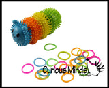 Rubber Band Wrap Caterpillar Activity  Fine Motor Busy Bags OT